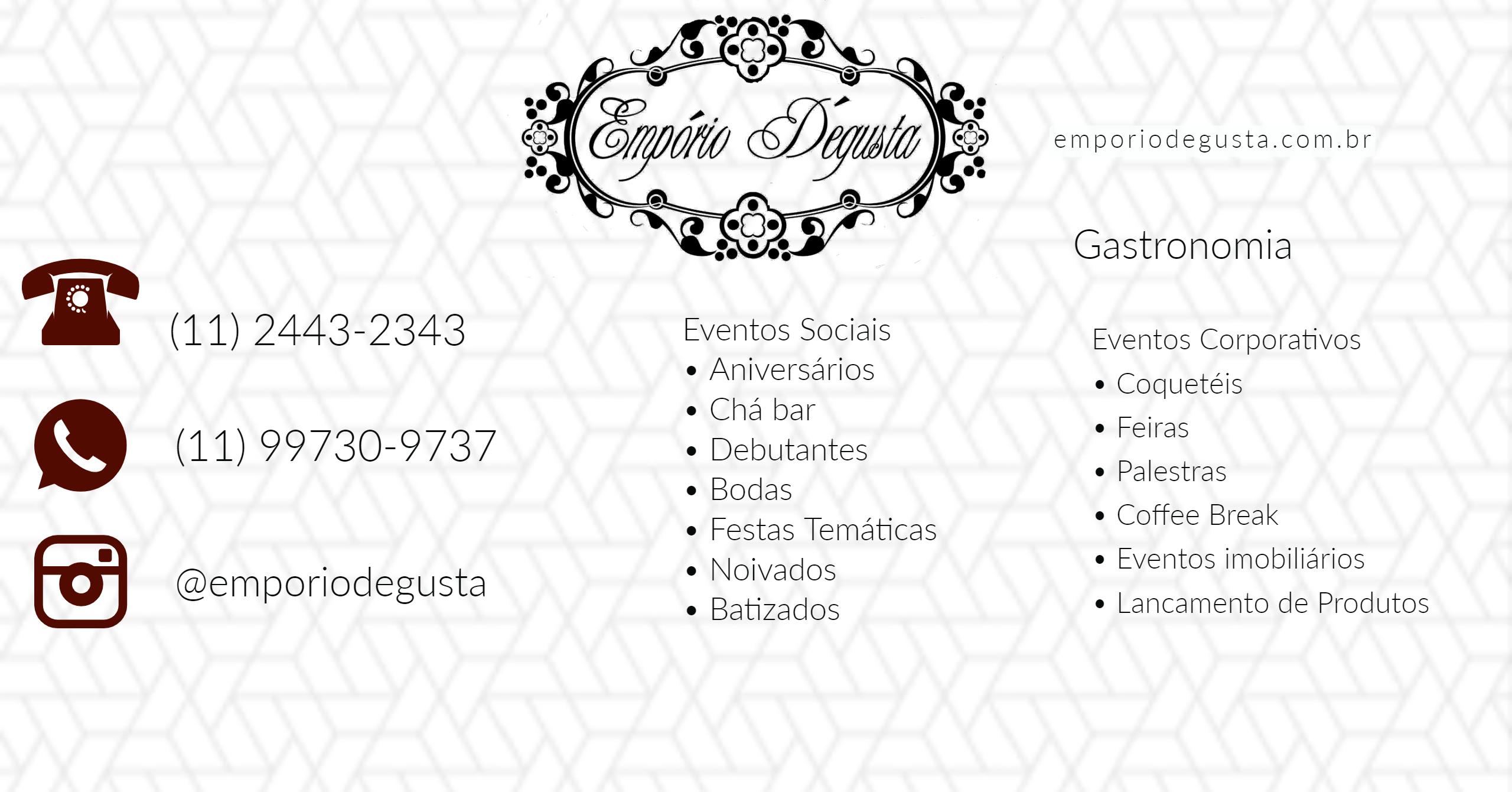 Portfólio de serviços Emporio Degusta Guarulhos